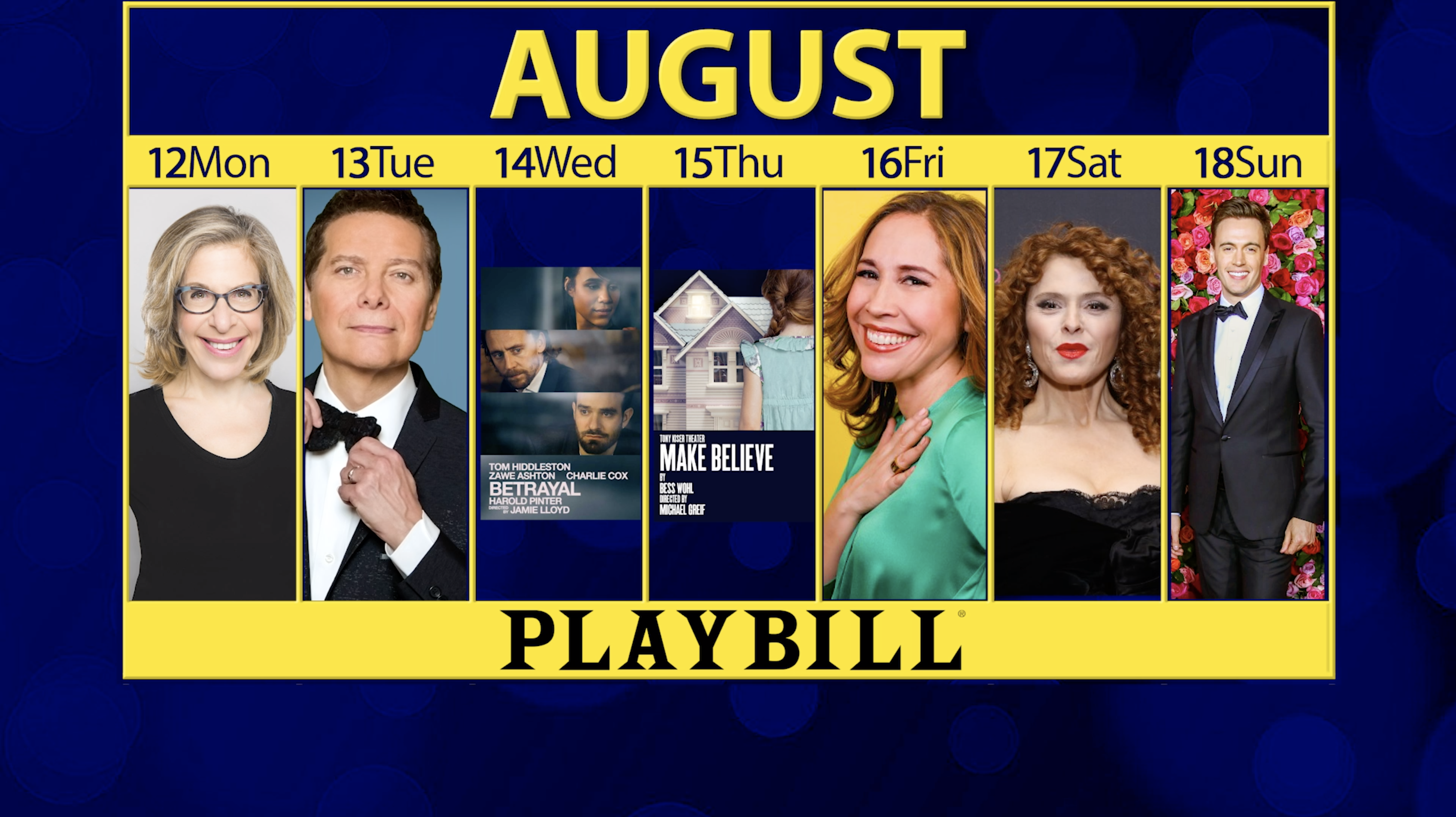 Playbill Calendar: Your Guide to Broadway, Off-Broadway and More August 12-18