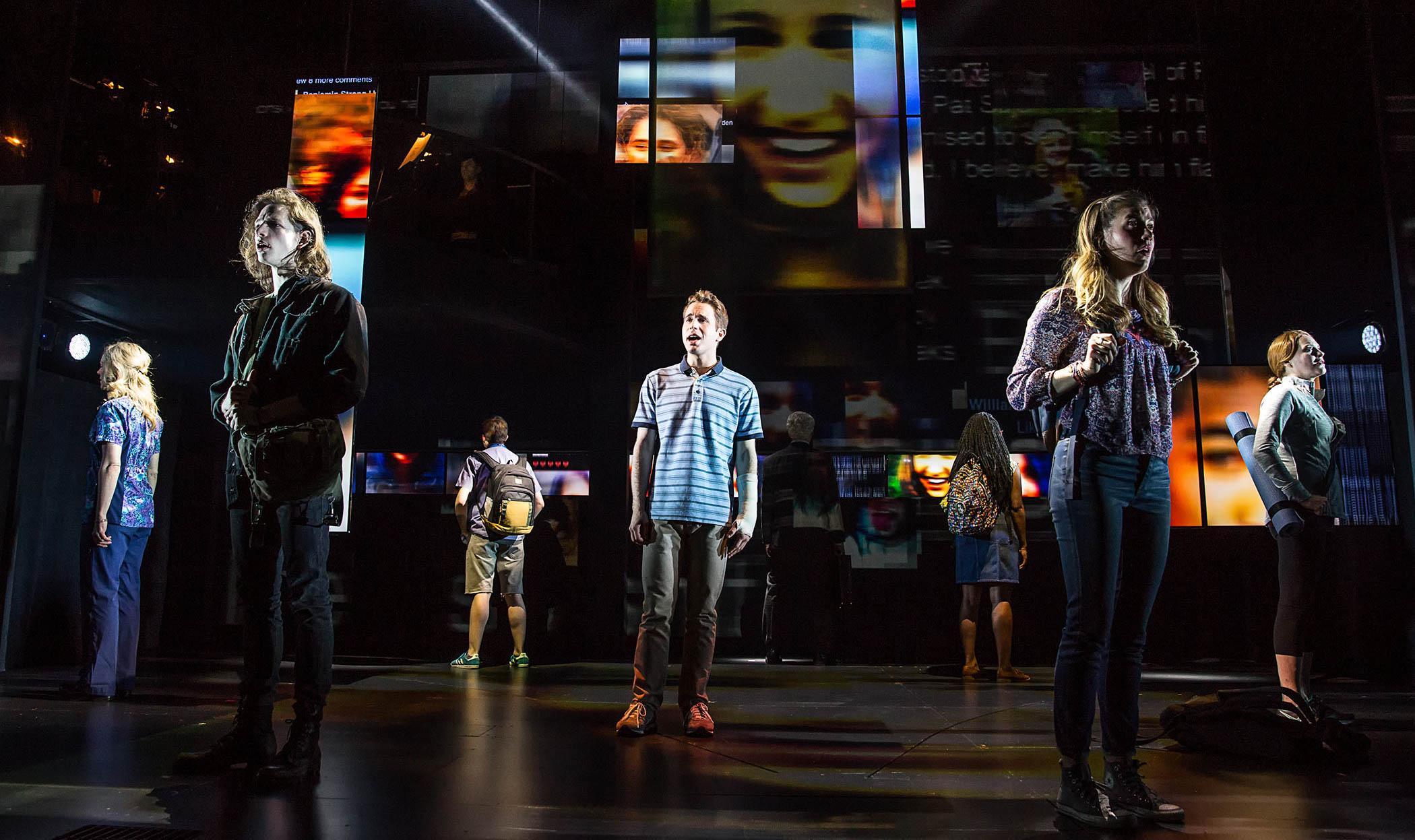 Cast And Creative Team Of Dear Evan Hansen Hit The Blue Carpet On Facebook Live Playbill