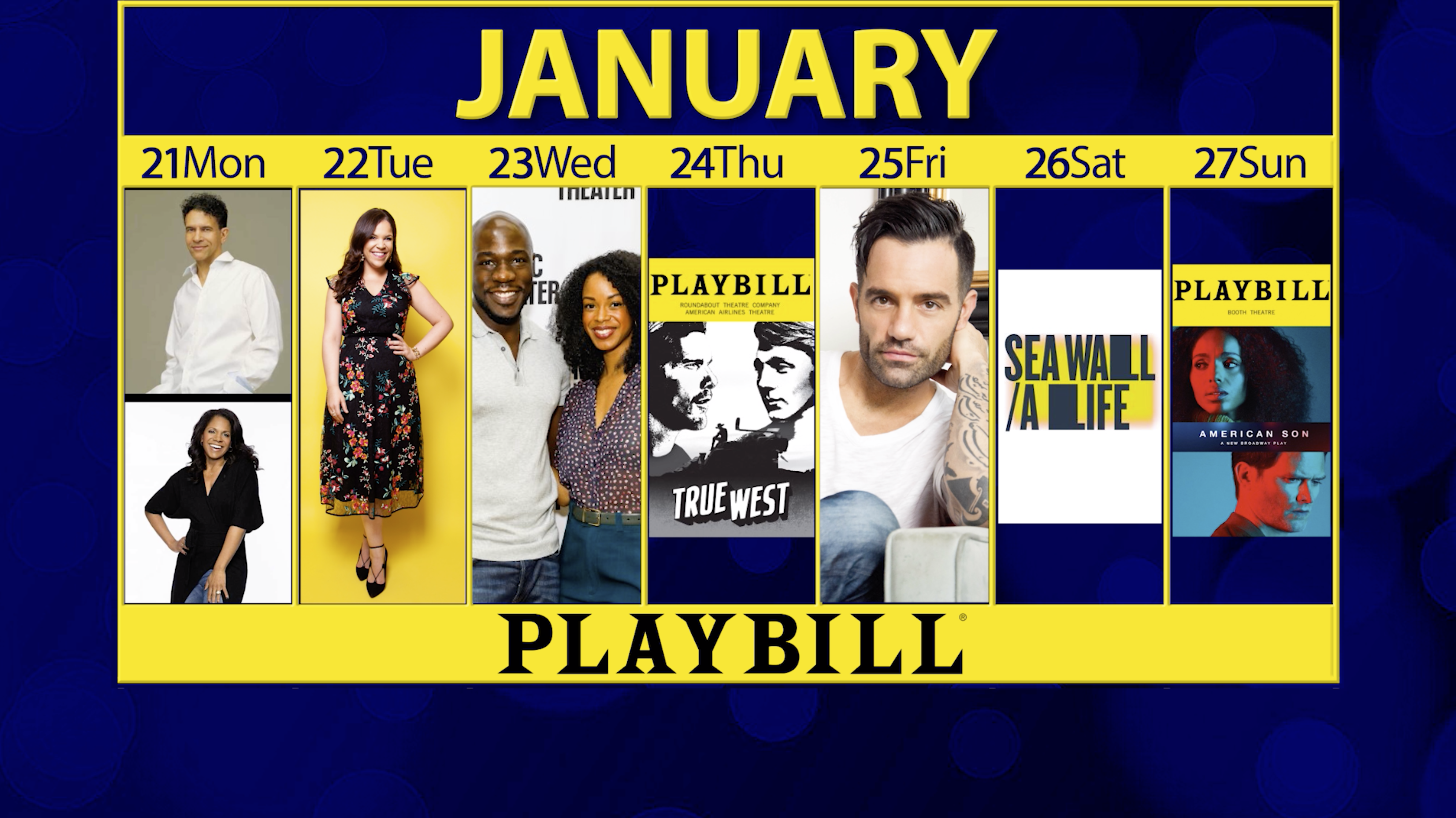 Playbill Calendar: Your Guide to Broadway, Off-Broadway and More January 21-27, 2019