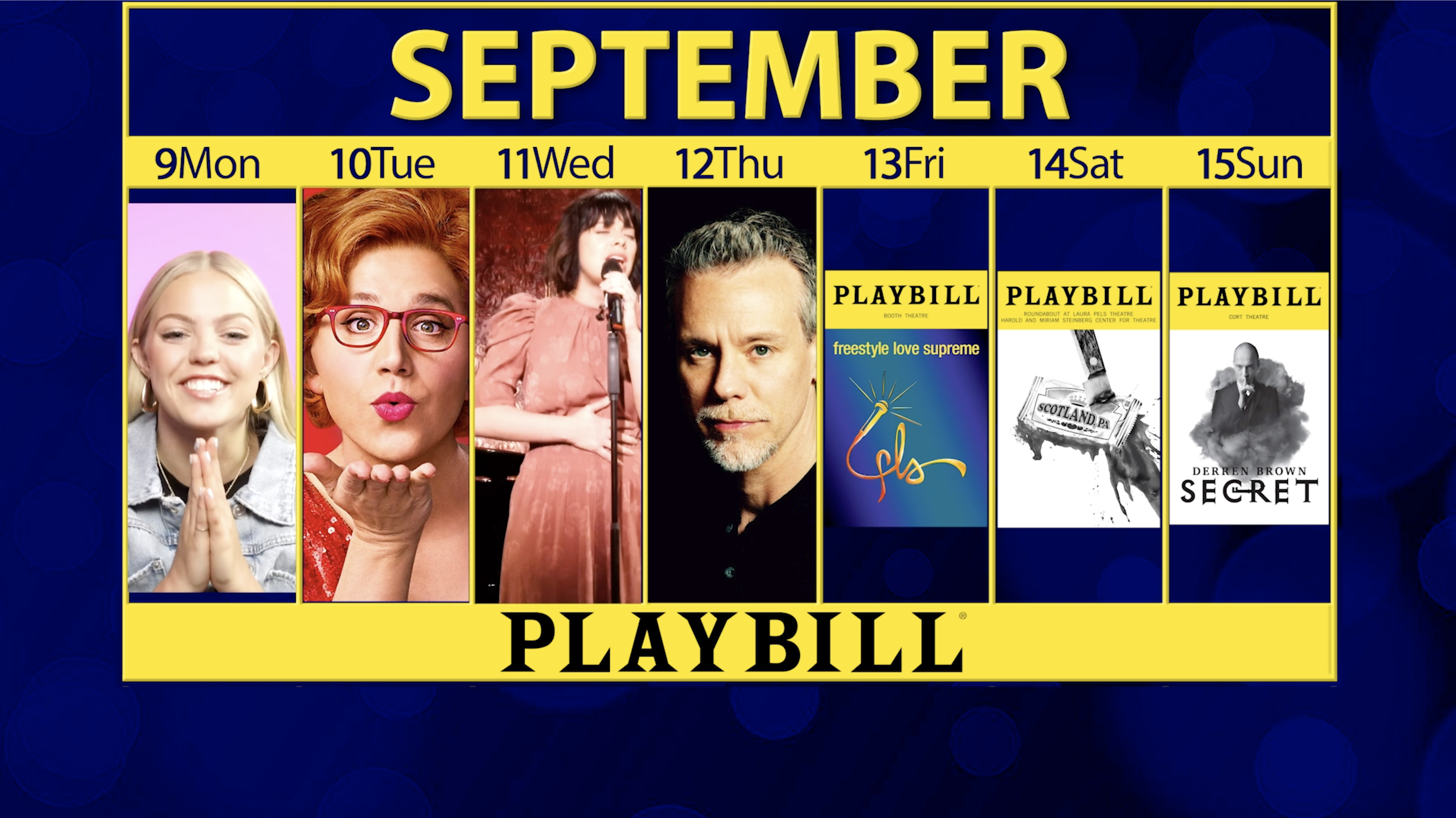 Playbill Calendar: Your Guide to Broadway, Off-Broadway and More September 9-15